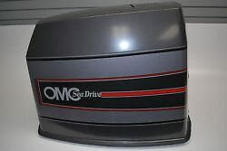 New Omc Outboard Sea Drive Motor Hood 4 Litre Cover 985365 Charcoal