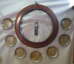 Antique Carnival Game Wheel Of Chance Yacht Ship Theme Nautical Motief
