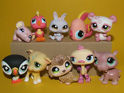 3) Littlest Pet Shop LPS Mixed Lot 10 Different Pets All Good Condition