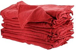 100 INDUSTRIAL SHOP RAGS CLEANING TOWELS RED $18.50