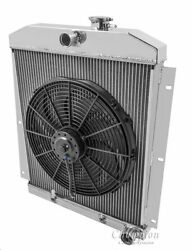2 Row Radex Radiator And Fan Combo For 49-54 Chevy Truck