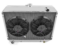 3 Row Radex Radiator And Fan Combo For 70-74 Mopar 26 Inch Core