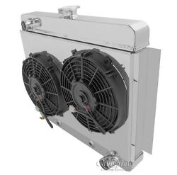 Radex Radiator With Fans And Shroud Combo For 62-67 Chevy Nova
