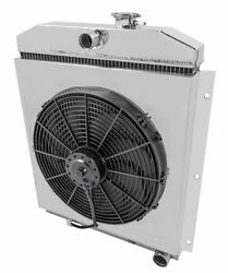 Radex Radiator With Fans And Shroud Combo For 49-54 Chevy Truck