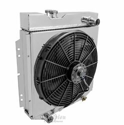 3 Row Radex Radiator With Fan And Shroud Combo For 60-66 Ford