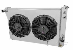 3 Row Radex Radiator With Fans And Fan Shroud For 82-92 Chevy Camaro
