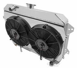3 Row Radex Radiator With Fans And Fan Shroud For 70-75 Datsun 240z And 260z