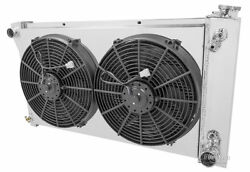 3 Row Radex Radiator With Fans And Fan Shroud For 70-72 Chevy Truck