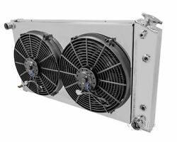 3 Row Radex Radiator With Fans And Fan Shroud For 68-85 Gm 28 Core