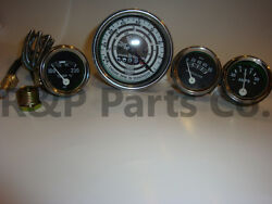 Temp Amp Oil Tach Gauge Set For Ford Tractor Mod 600 700 800 900 1800 2000 4000
