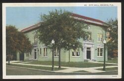 Postcard ARCADIA FloridaFL  City Hall Building view 1930's