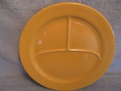Homer Laughlin China Large Yellow Grill Plate Vintage Fiesta 11 3/4