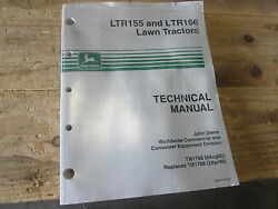 Used John Deere Technical Manual Tm1768 Ltr155 And Ltr166 Lawn Tractors