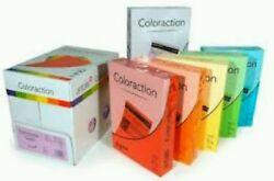 A4 Coloraction Coloured Paper 80gsm - 160gsm A4 210mm X 297mm 250-10000 Sheets