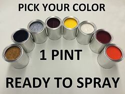Pick Your Color - Ready To Spray - 1 Pint Of Paint For Toyota Car Truck Suv Rts