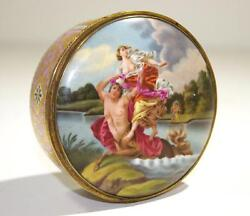 Royal Vienna Painted Porcelain Double Plaques Box Gilt Interior Late19th Century