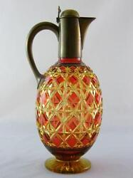 Stevens And Williams Ruby Over Citrine Decanter