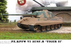 1/72 Diecast Tank Pz.Kpfw VI Ausf.B TIGER 2 Germany Military Model Eaglemoss