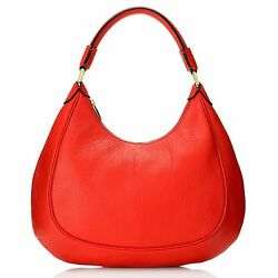 Brooks Brothers Pebbled Calfskin Leather Zip Top Hobo Handbag NWOT