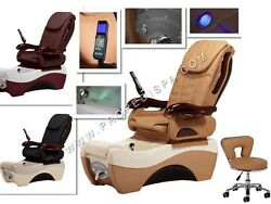 Quality Acetone Proof Full Function Chocolate Pedicure Spa Massage Chair Stool