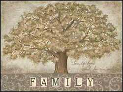 Art Print, Framed Or Plaque By Annie Lapoint - Our Family Tree - Alp1240