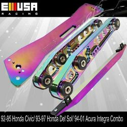 Rear Lower Control Arm+tie Bar+subframe For 92-95 Civic 93-97del Sol Chameleon