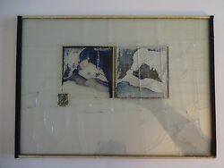 Jeffrey Blondes Beveled Glass Photo Collage / Man And Dog 1983