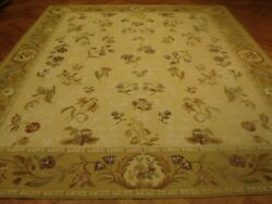 8 X 10 Flat Woven French Aubusson Rug Quality Original All Over Floral Design