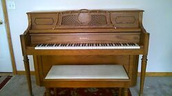 Samick Console Upright Piano- Recently Tuned And Action Adjustments
