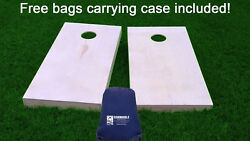 Finished And Non Painted Regulation Size Cornhole / Corn Hole Boards With Bags Diy