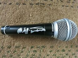 BILL WITHERS SIGNED MICROPHONE COA + PROOF! LEAN ON ME HALL OF FAME RARE! #2