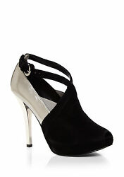 Black amp; Silver Evening Wedding High Heel Shoes Women#x27;s Size 7 $75.00