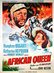 The African Queen - Original French Poster
