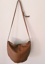 Vintage Leather Bucket Bag Brown Buttery Tote Purse Zipper $30.00