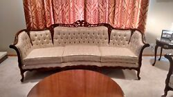 French Provincial Reproduction Sofa And Chair Set By Kimball Furniture