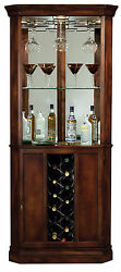 Howard Miller 690-000 (690000) Piedmont Wine & Bar Cabinet, Rustic Cherry