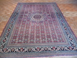 8and0396 X 12and0394 Hand Knotted Red Antique Persian Bidjar Oriental Rug G1984