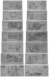 Full Set Old Aud Australian Dollar 1-100 Complete Collection Silver New Mint