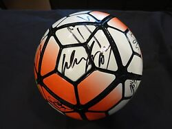 Manchester United Signed Soccer Ball By Team Coa + Proof Wayne Rooney + 16