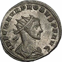 Probus Shaking Hands With Concordia 280ad Authentic Ancient Roman Coin I52099