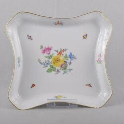 Meissen Flowers And Insects Bowl/platter 1.wahl Top Sulkowski Tray
