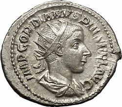 Gordian Iii 240ad Silver Ancient Roman Coin Virtus Excellence Courage I52324