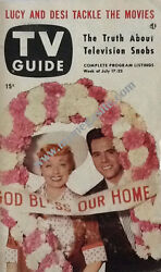 Tv Guide - Lucille Ball And Desi Arnaz - July 17, 1953