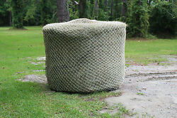 Slow Horse Hay Round Bale Net Feeder Save Eliminates Waste Fits 4and039 X 4and039 Bales