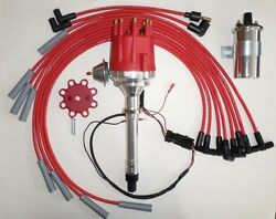 Big Block Chevy 454 Pro Series Small Hei Distributor + 45k Coil +plug Wires 180s