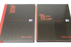 A4 Black Nand039 Red Ruled And039spiral Or Case Boundand039 Professional Notebook. 90gsm Paper.