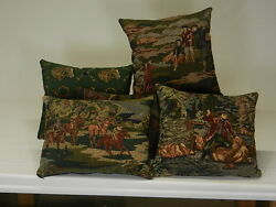Pictorial Tapestry Pillows Available in Various Sprot Animal Outdoors Themes
