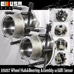 1pair Front Wheel Hubandbearing For 00-04 Ford F250/350 Super Duty Drw 4wd W/abs