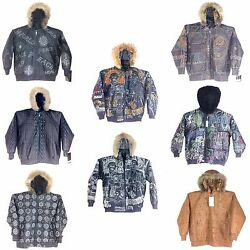 Collectible Stitched/embroidered Menand039s Leather Jacket With Hoodie Group-2