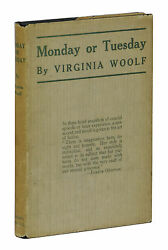 Monday Or Tuesday Virginia Woolf First American Edition 1st Printing 1921